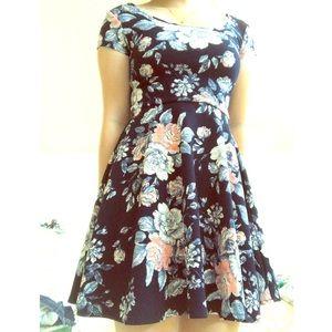 Aéropostale Floral Skater/Flare Dress